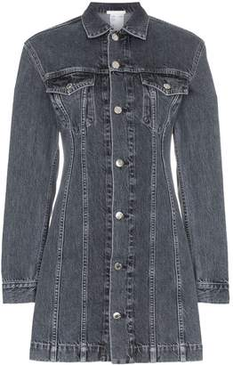 Helmut Lang collared denim mini dress