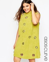 Asos Suede Dress with Ring Detail