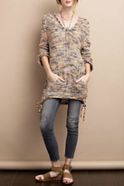 Easel Hoodie Sweater Blush Grey