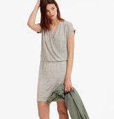 LOFT Lou & Grey Slinky Crossover Blouson Dress