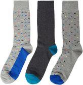 Linea 3 Pack Chevron Socks