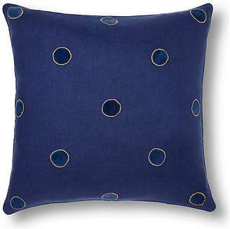 Joanna Buchanan Dot 20x20 Pillow - Indigo/Navy Linen