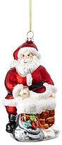 JCPenney MarthaHolidayTM The Night Before Christmas Glass Santa Christmas Ornament