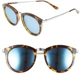 Le Specs Women's No Smirking 51Mm Polarized Sunglasses - Black/ Gold