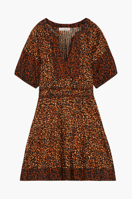 Ulla Johnson Mariana Gathered Leopard-print Cotton-voile Mini Dress