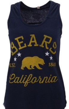 Royce Apparel Inc Women's California Golden Bears Jersey Tank