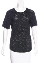 Raquel Allegra Lace Short Sleeve Top