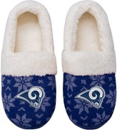 Unbranded Women's Los Angeles Rams Ugly Knit Moccasin Slippers