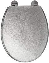 Croydex Silver Glitter Toilet Seat