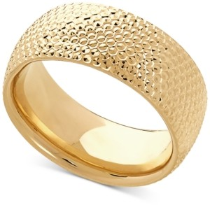 Italian Gold Textured Band in 10k Gold