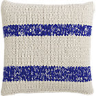 "CB2 Stream Knit Blue 20"" Pillow Down-Alternative Insert."
