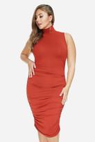 Fashion to Figure Rory Turtleneck Ruched Midi Dress