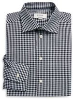 Eton Regular-Fit Gingham Linen Blend Shirt