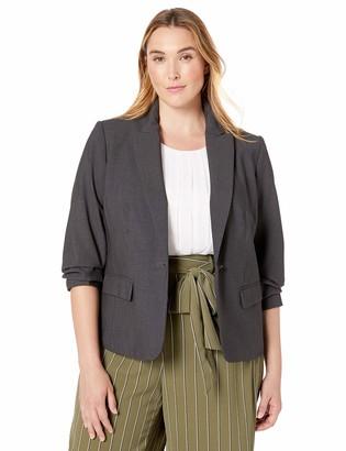 Calvin Klein Size Women's 1 Button Flap Pocket Jacket