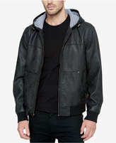 Levi's Men's Faux-Leather Hooded Bomber
