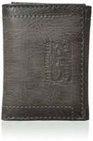 Levi's Men's Stitch Detail with Horse Logo Trifold Wallet