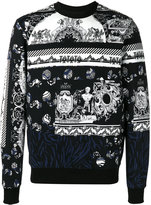 Versus pattern knitted sweater