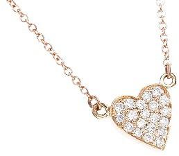 Jennifer Meyer Rose Gold Diamond Heart Bracelet