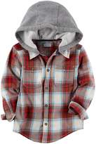Carter's Boys'-8 Long Sleeve Plaid Zip Up Hoodie