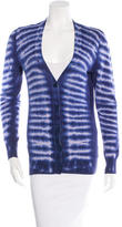 Tory Burch Tie-Dye V-Neck Cardigan