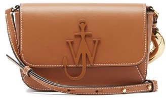 J.W.Anderson Anchor-logo Chain Leather Cross-body Bag - Tan