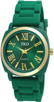 JCPenney TKO ORLOGI Milano III Womens Green Silicone Strap Watch