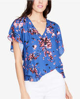 Rachel Roy Printed Ruffled Top, Created for Macy's