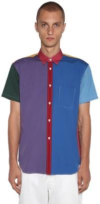 Comme des Garcons Patchwork Cotton Poplin S/S Shirt