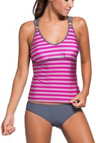 Sidefeel Women Striped Strappy Two Piece Swimsuit Large