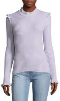 Derek Lam 10 Crosby Ruffle Fitted Cashmere Sweater