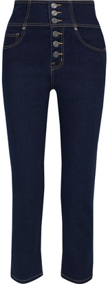 Joie Laurelle Cropped High-rise Straight-leg Jeans