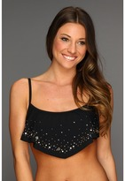 GUESS Set In Stones Ruffle Top (Black) - Apparel