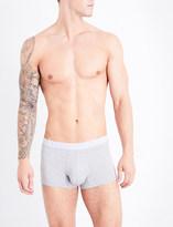 Ermenegildo Zegna Branded-waistband slim-fit stretch-cotton trunks