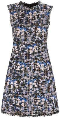Giambattista Valli Embroidered Tweed Shift Dress