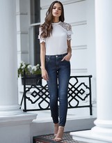 Lipsy Long Rinse Lift And Shape Skinny Jeans
