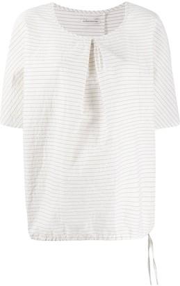 Stefano Mortari Striped-Print Oversized Blouse