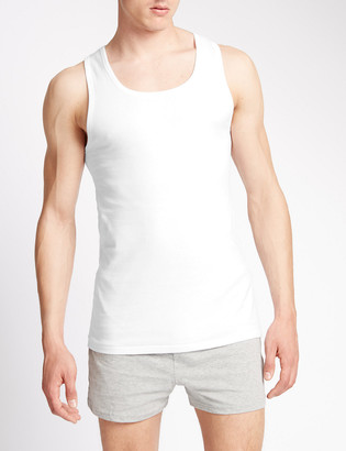 Marks and Spencer 2 Pack Pure Cotton Sleeveless Vests