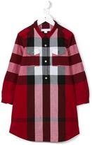 Burberry checked shirt dress - kids - Cotton - 7 yrs