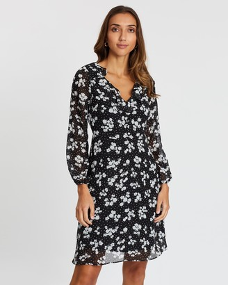 Wallis Floral Print Fit-and-Flare Dress