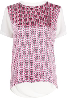 HUGO BOSS Geometric-Print Crew Neck Top
