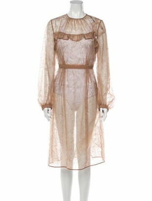 No.21 Lace Pattern Midi Length Dress w/ Tags