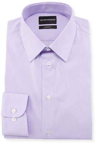 Emporio Armani Modern-Fit Fine-Stripe Dress Shirt
