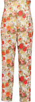 Emilia Wickstead Floral woven straight-leg pants