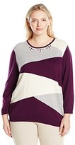 Alfred Dunner Women's Classic Colorblock Sweater
