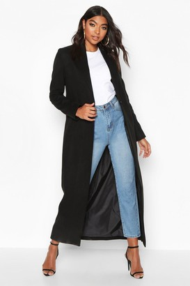 boohoo Tall Full Length Wool Look Coat