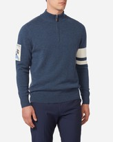 Ski Badge Half Zip Cashmere Jumper