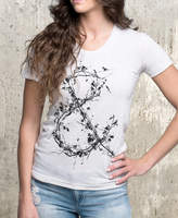 Etsy Women's Tri-Blend T-Shirt - Tree Branch Ampersand - American Apparel Women's TriBlend - Women's Smal