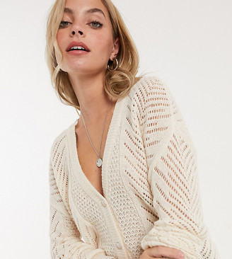 Only Petite cardigan in beige