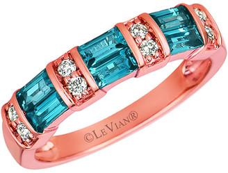 LeVian Le Vian 14K Rose Gold 0.73 Ct. Tw. Diamond & Topaz Ring