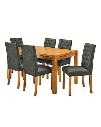 Marisota Oakham Table 6 Grace Fabric Chairs